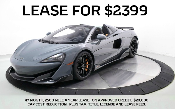 New 2020 MCLAREN 600LT Spider-Norwell, MA