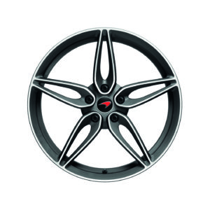 570S/GT Lightweight 5 Spoke Wheel - FRONT, DIAMOND CUT