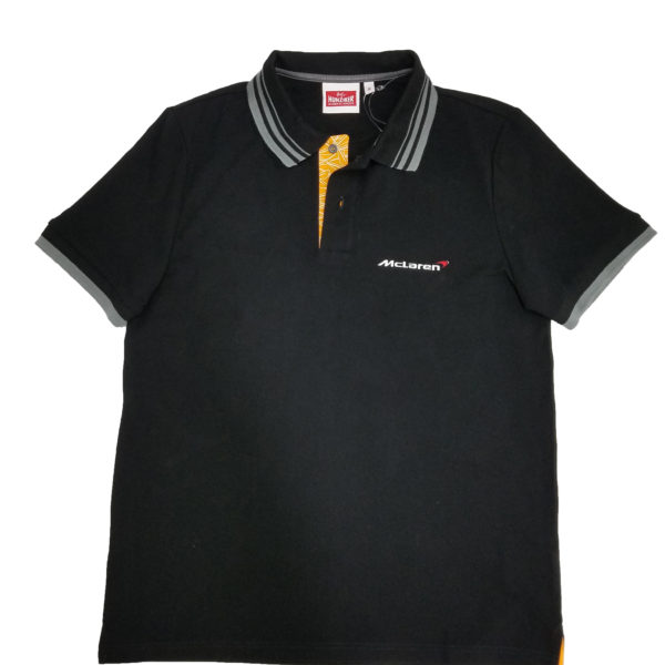 McLaren Official Sport Series Polo Shirt - BLACK, EXTRA SMALL