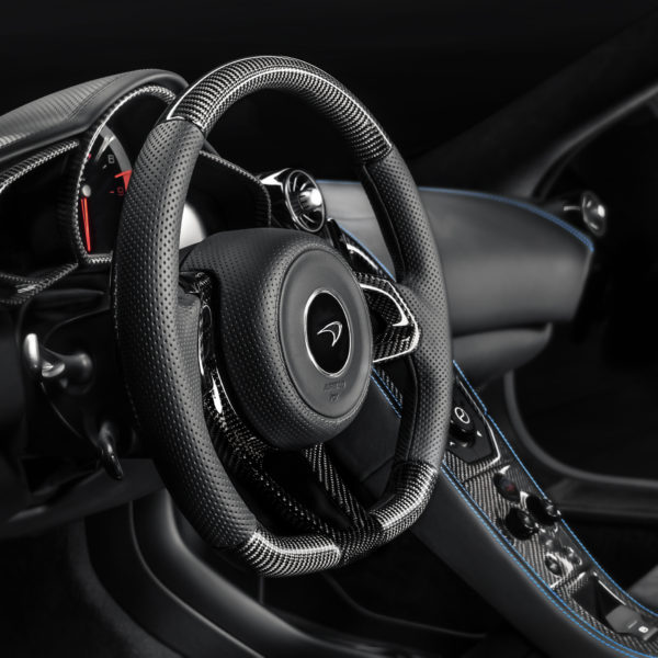 MSO Defined Carbon Fiber Steering Wheel - LEATHER