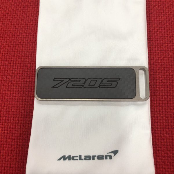 MCLAREN OFFICIAL 720 TITANIUM AND CARBON FIBER KEY CHAIN BACK