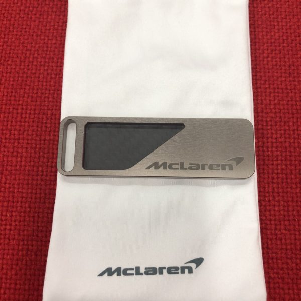 MCLAREN OFFICIAL 720 TITANIUM AND CARBON FIBER KEY CHAIN